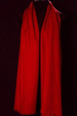Pashmina 100% Cashmere Vermelha