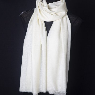Pashmina 100% Cashmere Off White