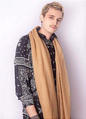 Pashmina Masculina 100% Lã da Kashmira Deserto