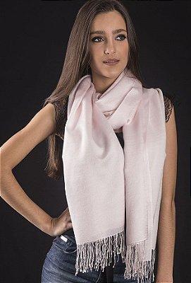 Pashmina Lã da Kashmira com Seda Millennial Pink