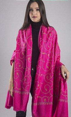 Pashmina 100% Lã da Kashmira Pink