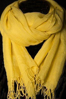 Pashmina 100% Lã da Kashmira Amarela