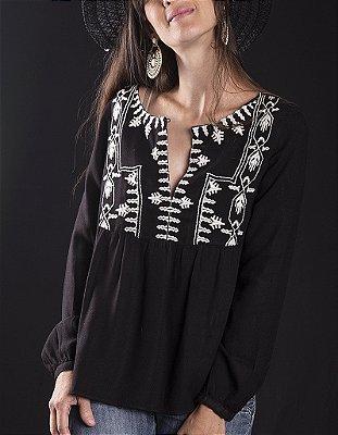 Bata 100% Viscose Pilgrim Black And White