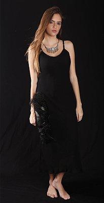 Vestido Crepe Georgette Preto