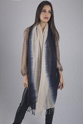 Pashmina 100% Lã da Kashmira Tie Dye Vertical