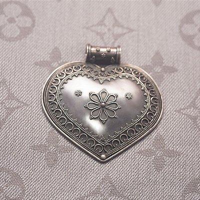 Pingente de Prata Indiano Coração