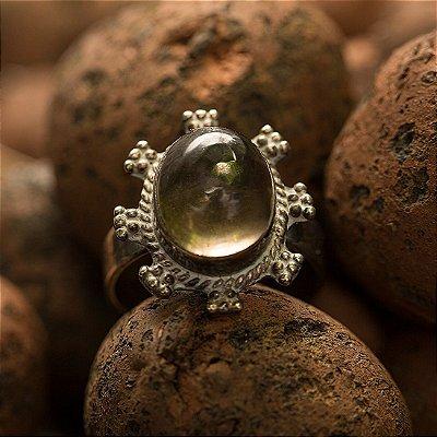 Anel Prata Aarna (3 Opções de Pedra Disponíveis)