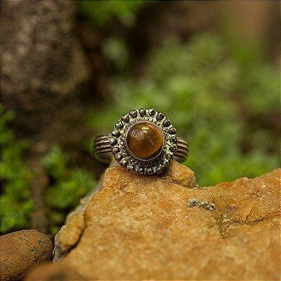 Anel Prata Hir (2 Opções de Pedra)
