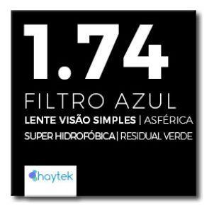 Lente Resina 1.74 Filtro Azul SUPER FINA