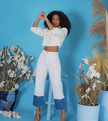 Calça jeans branca - alcance