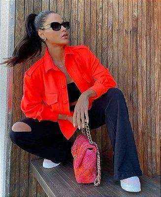 Camisa laranja - cloude