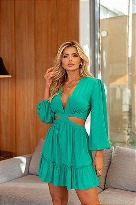Vestido verde Lidiane - cloude
