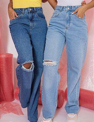 Calça jeans wide leg Manu - alcance