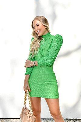 Vestido verde lesie - cloude