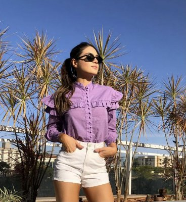 Camisa lilas cleo - cloude