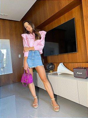 Saia Jeans rose - Cloude