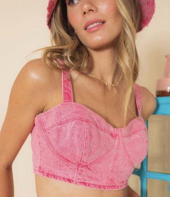 CROPPED top pink - alcance