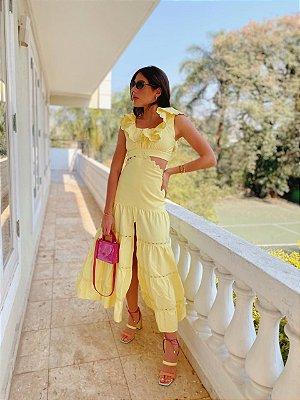 Vestido Midi Amarelo Nayara - cloude