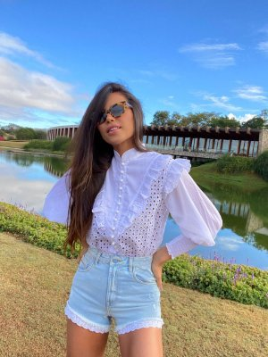 Camisa Off White Cleuza - cloude