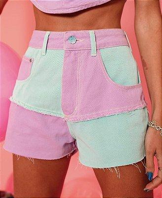 Short jeans de recortes - alcance