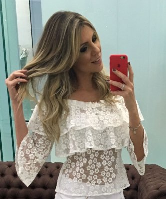 Blusa Ciganinha Off White - Cloude
