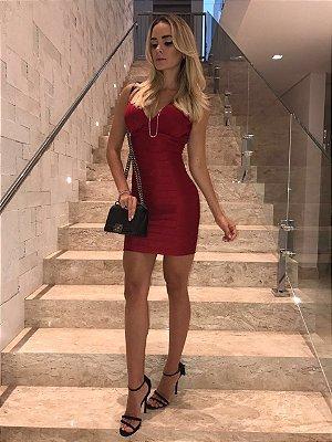 Vestido de Bandagem Vermelho - Cloude