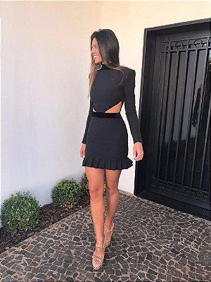 Vestido Curto Preto Suzana - Cloude
