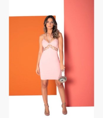 Vestido Rosa com Ilhós July - LeBlog