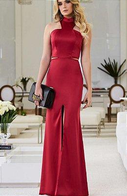 Vestido Longo Vermelho Laura - Desnude