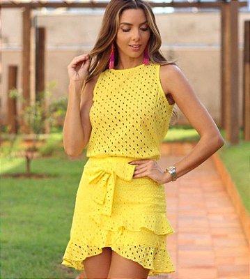 Conjunto Amarelo Lesie - Bambola