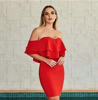 Vestido Vermelho ciganinha - Desnude