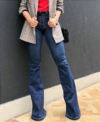 Calça Flare Jeans Sandra - Bebela