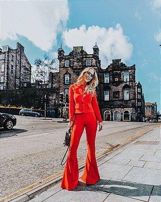 Conjunto Vermelho calça e casaco - Unicas