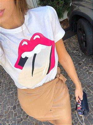 Blusa T-shirt Off White Vivian - Cloude