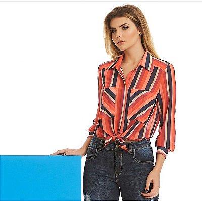 Camisa Listrada Max Bolso - Luzia Fazzoli