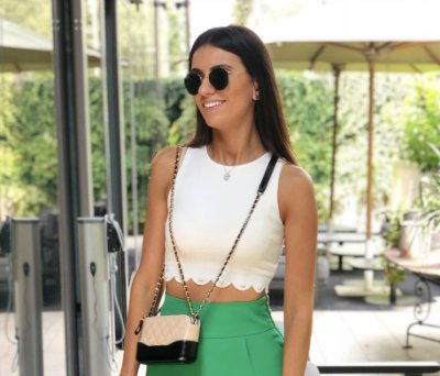 Cropped Off White Clara - Cloude