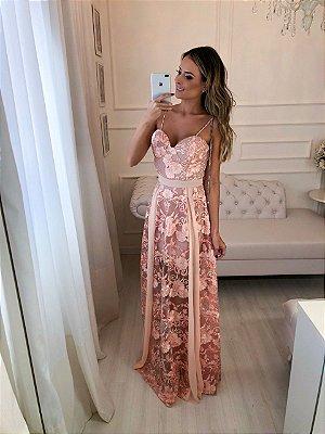 Vestido Longo Rosa Juliana - Cloude