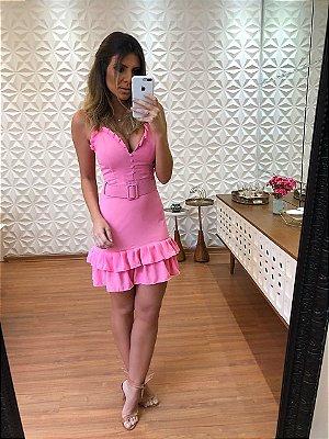 Vestido Curto Rosa Brenda - Cloude dfc617f25c098