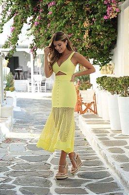 Vestido Midi Amarelo - Luana