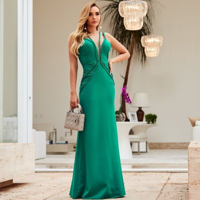 Vestido Longo Verde - Aquarella