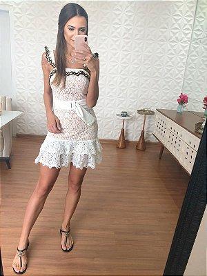 Vestido Off White Arielly - Cloude