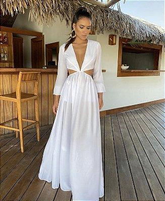 Vestido Longo Off White Carol
