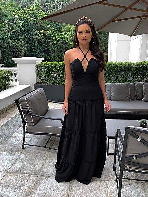Vestido longo preto Carol
