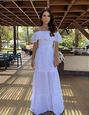 Vestido longo off white - Carol