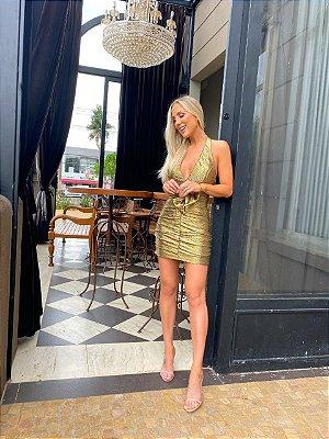 Vestido dourado - Cloude