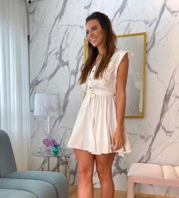 Vestido Off White - Cloude