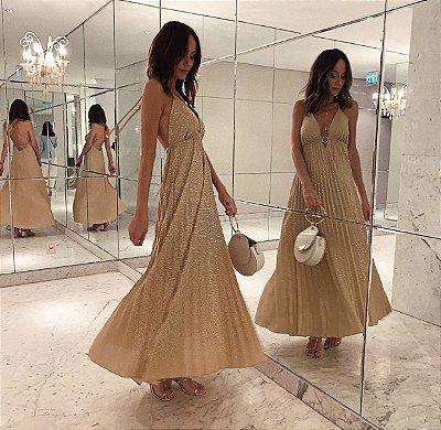 Vestido Dourado - Leblog