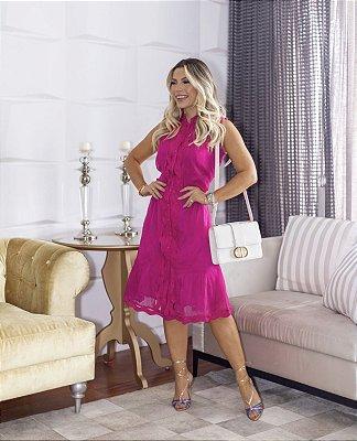 Vestido Pink Guipir - Luzia Fazzolli