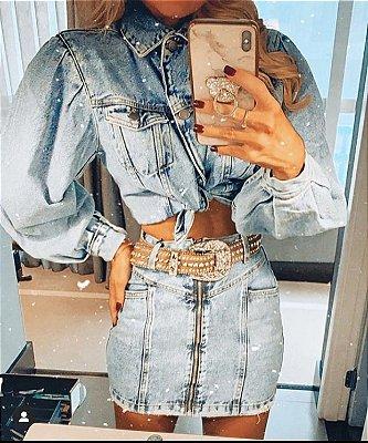 Saia Jeans de Ziper - Blend
