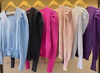 Blusa tricot colorido